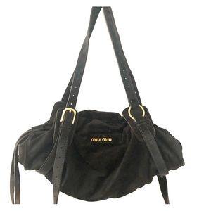 Miu Miu Brown suede shoulder bag -